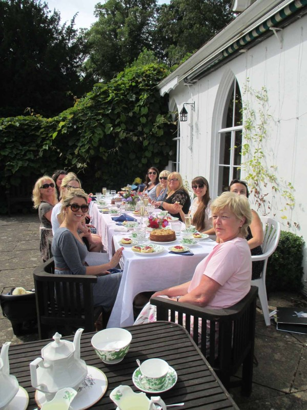 """Houghton Lodge was the perfect setting for the afternoon tea that I organised for my sister's champagne babyshower.  The view from the house was absolutely stunning and we thoroughly enjoyed the delicious home made food we had served with beautiful flowers from the garden.  I would recommend Houghton Lodge for it's character, beauty, uniqueness and bespoke service. We had a wonderful afternoon!""  Claire Oliver"