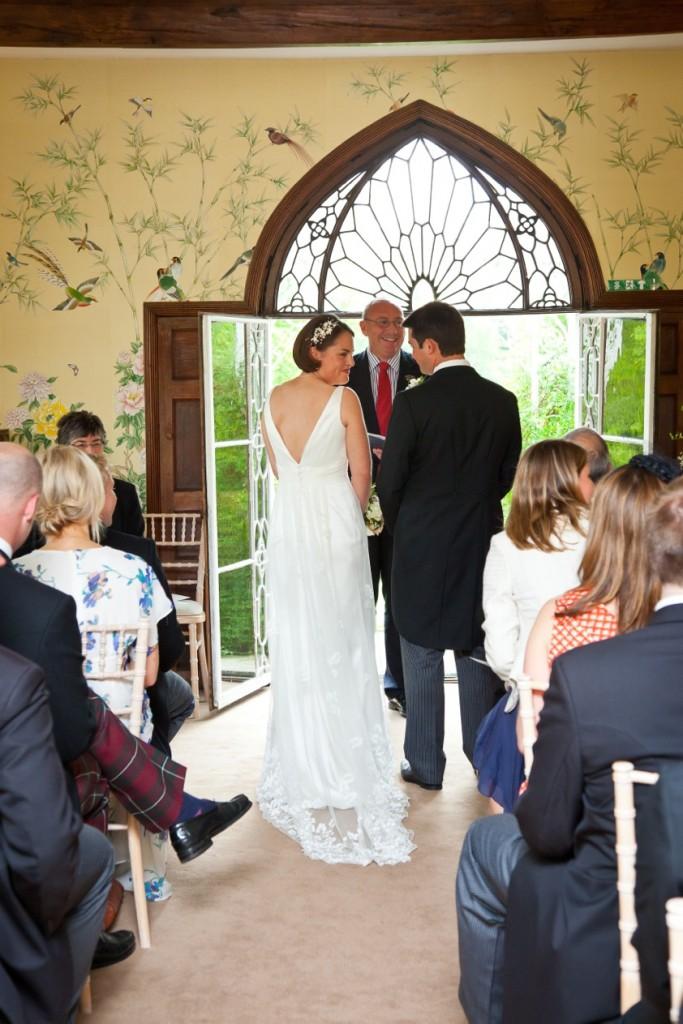 dining room happy bride