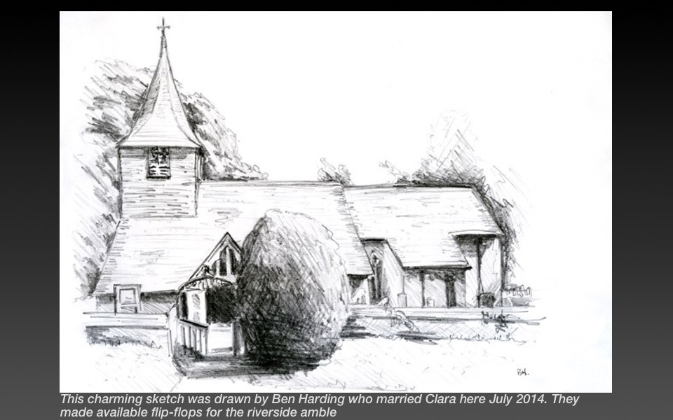 church sketch houghton lodge